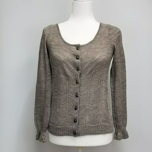 Anthropologie Knitted & Knotted Cardigan Sweater M